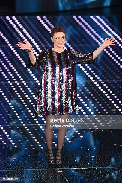 Arisa attends the third night of the 66th Festival di Sanremo 2016 at Teatro Ariston on February 11 2016 in Sanremo Italy