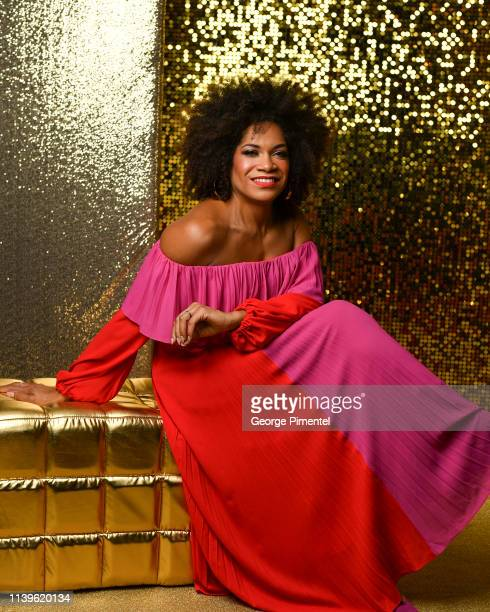 Arisa Cox poses inside the 2019 Canadian Screen Awards Portrait Studio held at Sony Centre for the Performing Arts on March 31 2019 in Toronto Canada