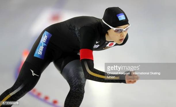 Arisa Go of Japan competes during the 1000m ladies Division A on Day Three during the ISU World Cup Speed Skating at the Thialf on November 12 2017...
