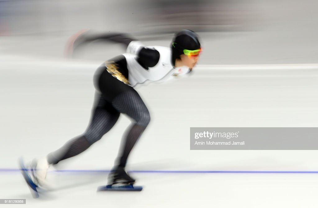 Arisa Go of Japan competes during the Ladies' 1000m Speed Skating on day five of the PyeongChang 2018 Winter Olympics at Gangneung Oval on February 14, 2018 in Gangneung, South Korea.