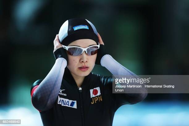 Arisa Go of Japan competes in the Ladies 500m during day 2 of the ISU World Cup Speed Skating at Soermarka Arena on March 12 2017 in Stavanger Norway