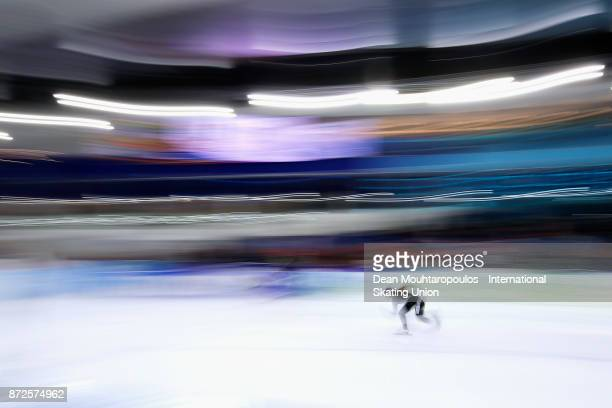 Arisa Go of Japan competes in the Ladies 500m race on day one during the ISU World Cup Speed Skating held at Thialf on November 10 2017 in Heerenveen...