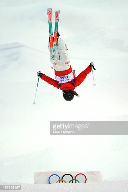 Arisa Murata of Japan competes in the Ladies' Moguls Qualification during day 1 of the Sochi 2014 Winter Olympics at Rosa Khutor Extreme Park on...