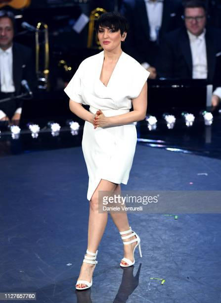 Arisa on stage during the first night of the 69th Sanremo Music Festival at Teatro Ariston on February 05 2019 in Sanremo Italy