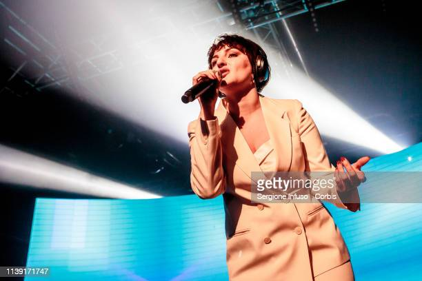 Arisa performs on stage at Magazzini Generali on March 29 2019 in Milan Italy