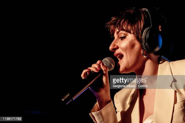 Arisa performs onstage at Magazzini Generali on March 29 2019 in Milan Italy