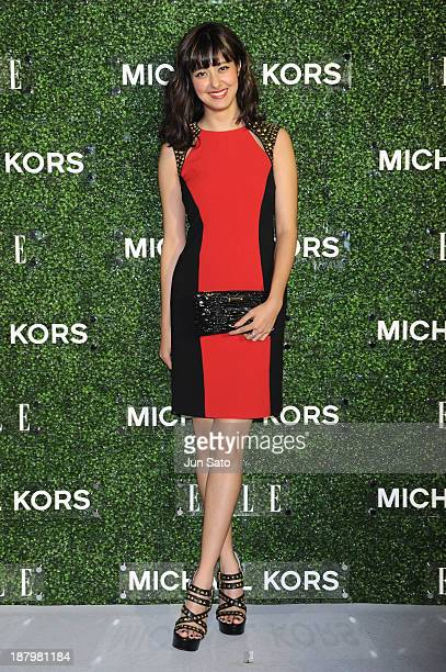 Arisa Urahama attends Michael Kors and Miranda Kerr Celebrate Elle Japon December Cover party at the Gallery of Horyuji Treasures of the Tokyo...