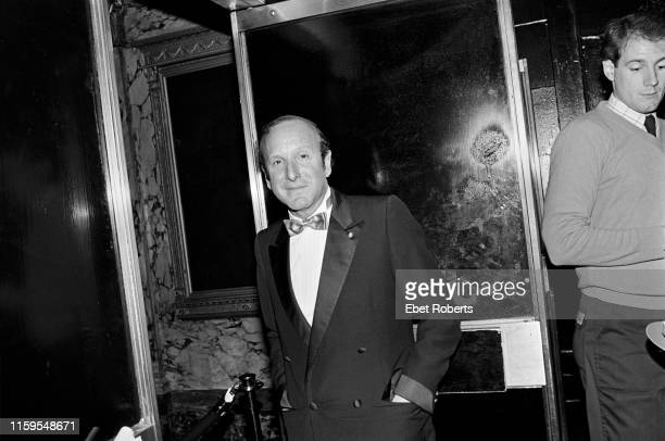 Arista Records founder Clive Davis at a party given by the company at Studio 54 in New York City on October 14 1982