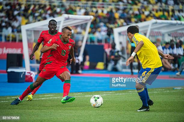Aristide Bance dribling during the first half at African Cup of Nations 2017 between Gabon and GuineaBissau at Stade de lAmitié Sino stadium...