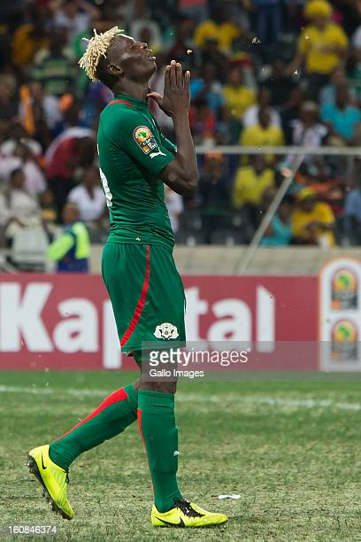 Aristide Bance from Burkina Faso during the 2013 Orange African Cup of Nations 2nd Semi Final match between Burkina Faso and Ghana at Mbombela...