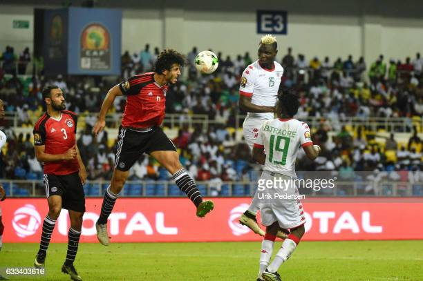 Aristide Bance of Burkina during the African Nations Cup Semi Final match between Burkina Faso and Egypt at Stade de L'Amitie on February 1 2017 in...