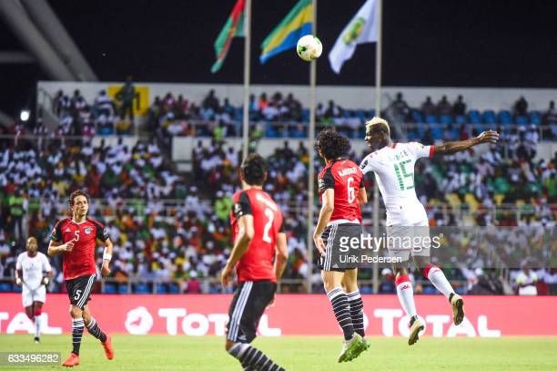 Aristide Bance of Burkina Faso and Ahmed Elsayed Ali Elsayed Hegazi of Egypt during the African Nations Cup Semi Final match between Burkina Faso and...