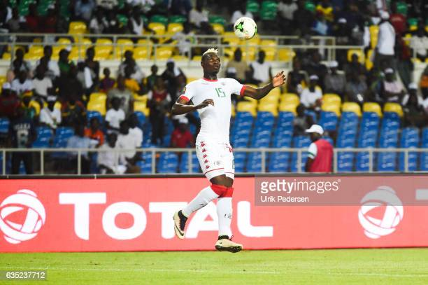 Aristide Bance of Burkina Faso during the African Nations Cup Quarter Final match between Burkina Faso and Tunisia on January 28 2017 in Libreville...