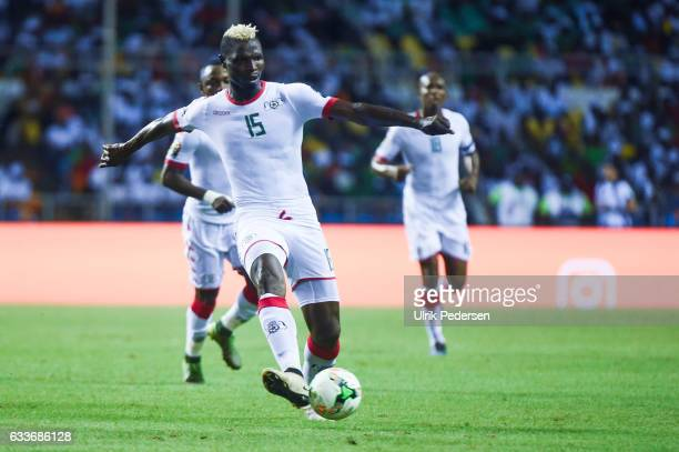 Aristide Bance of Burkina Faso during the African Nations Cup Semi Final match between Burkina Faso and Egypt at Stade de L'Amitie on February 1 2017...