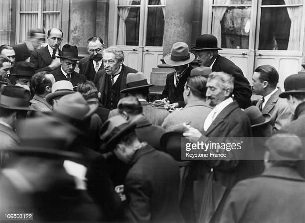 Aristide Briand In Ministerial Crisis 1929