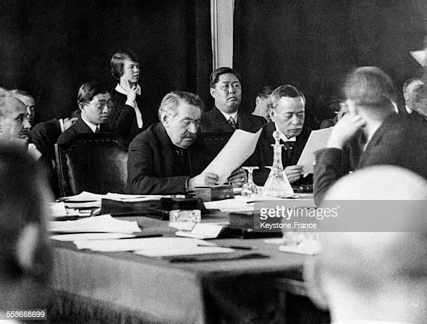 Aristide Briand à la Société des Nations à Genève Suisse en 1931