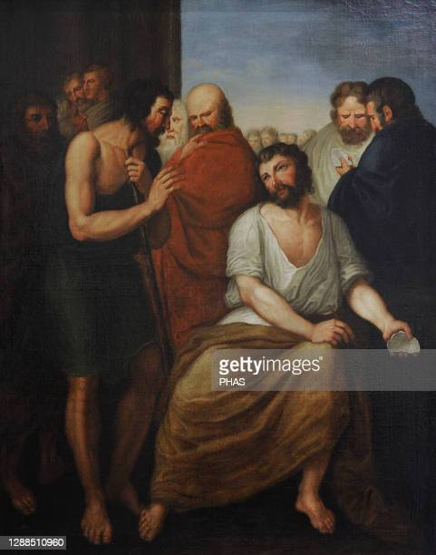 Aristides . Athenian statesman. The Ostracism of Aristides, ca.1800, by Franciszek Smuglewicz . Oil on canvas. 19th Century Polish Art Gallery ....
