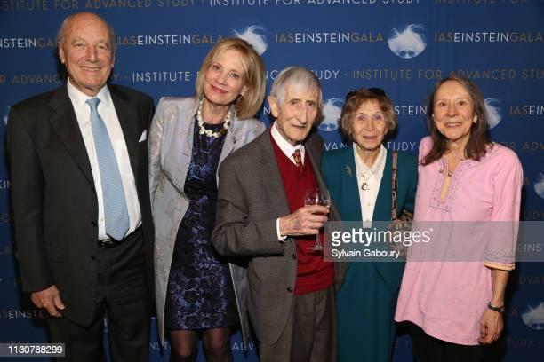 Aristides Georgantas Elizabeth Georgantas Freeman Dyson Imme Dyson and Esther Dyson attend IAS Einstein Gala honoring Jim Simons at Pier 60 at...