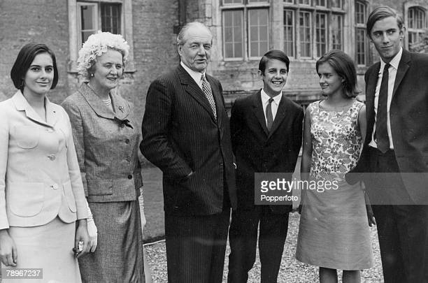 Aristocracy Castle Ashby House Northamptonshire England pic 1965 The Marquess of Northampton and his family at his 80th birthday celebrations