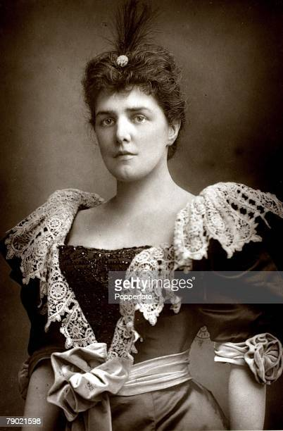 Aristocracy Circa 1900 A portrait of Lady Randolph Churchill She was born into a wealthy American family married Lord Randolph Churchill in 1874 and...