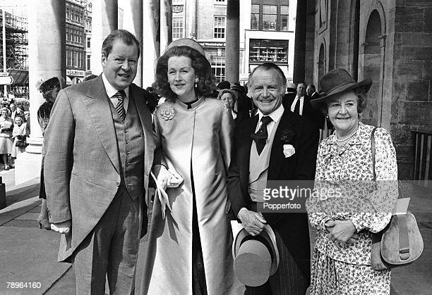 Aristocracy/Stage and Screen Personalities 12th May 1979 Thanksgiving service for the recovery of Earl Spencer after his illness All Saints Church...