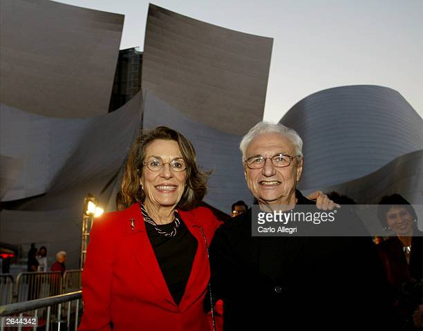 Aristocrat Diane DisneyMiller and Architect Frank Gehry attend the Walt Disney Concert Hall opening gala day two of three October 24 2003 in Los...