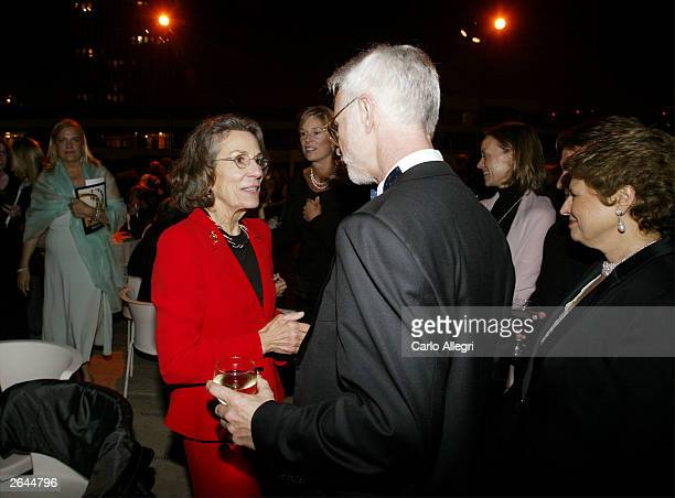 Aristocrat Diane DisneyMiller and Architect Frank Gehry talk at the Walt Disney Concert Hall opening gala day two of three October 24 2003 in Los...