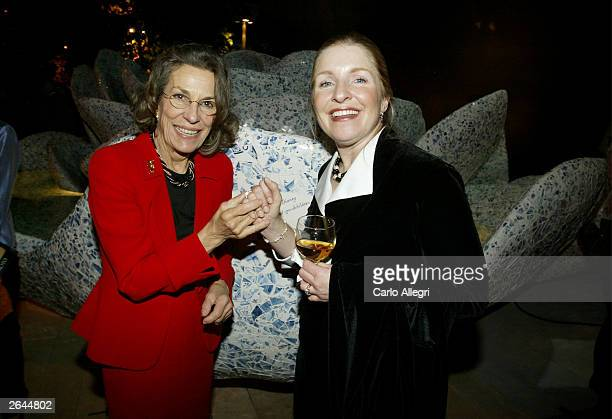 Aristocrat Diane DisneyMiller and Director of Development Emily Laskin mingle at the Walt Disney Concert Hall opening gala day two of three October...