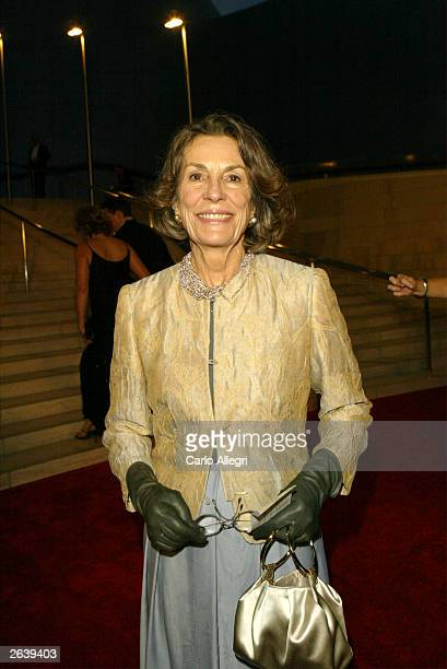 Aristocrat Diane DisneyMiller attends the Walt Disney Concert Hall opening gala day one of three October 23 2003 in Los Angeles California Tonight...