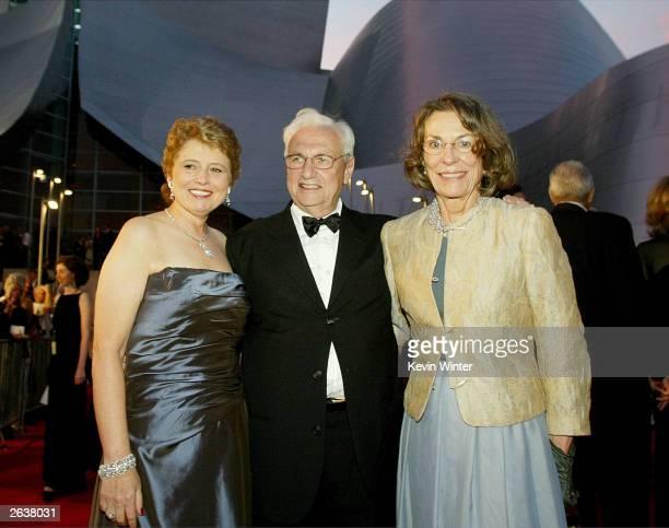 Aristocrat Diane DisneyMiller President of the Los Angeles Philharmonic Deborah Borda and Achitect Frank Gehry attend the Walt Disney Concert Hall...