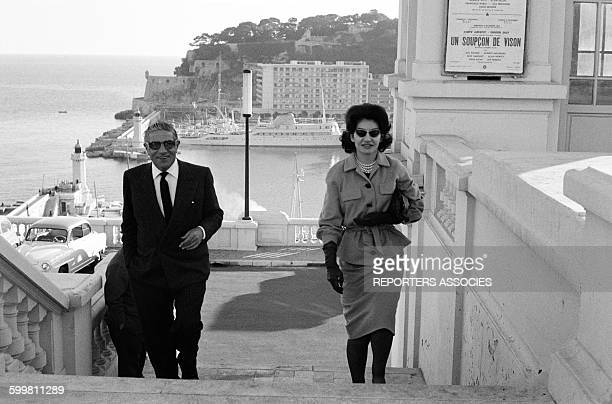 Aristote Onassis and Maria Callas in MonteCarlo Monaco in 1960
