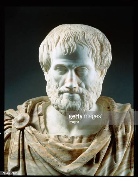 Aristoteles griech philosopher theacher of Alexander the great Museo Nationale Rome Italy [Aristoteles giriech Philosoph Lehrer von Alexander dem...