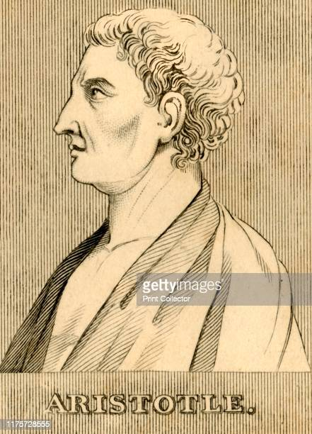 """Aristotle', , 1830. Aristotle Greek philosopher during the Classical period in Ancient Greece,From """"Biographical Illustrations"""", by Alfred Howard...."""