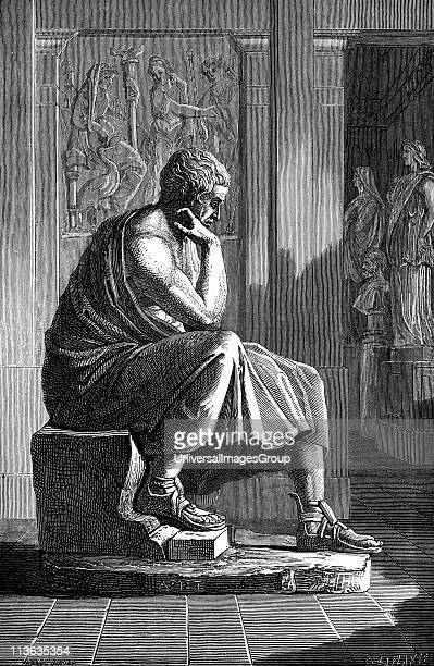 Aristotle Ancient Greek philosopher and scientist Engraving after an antique statue