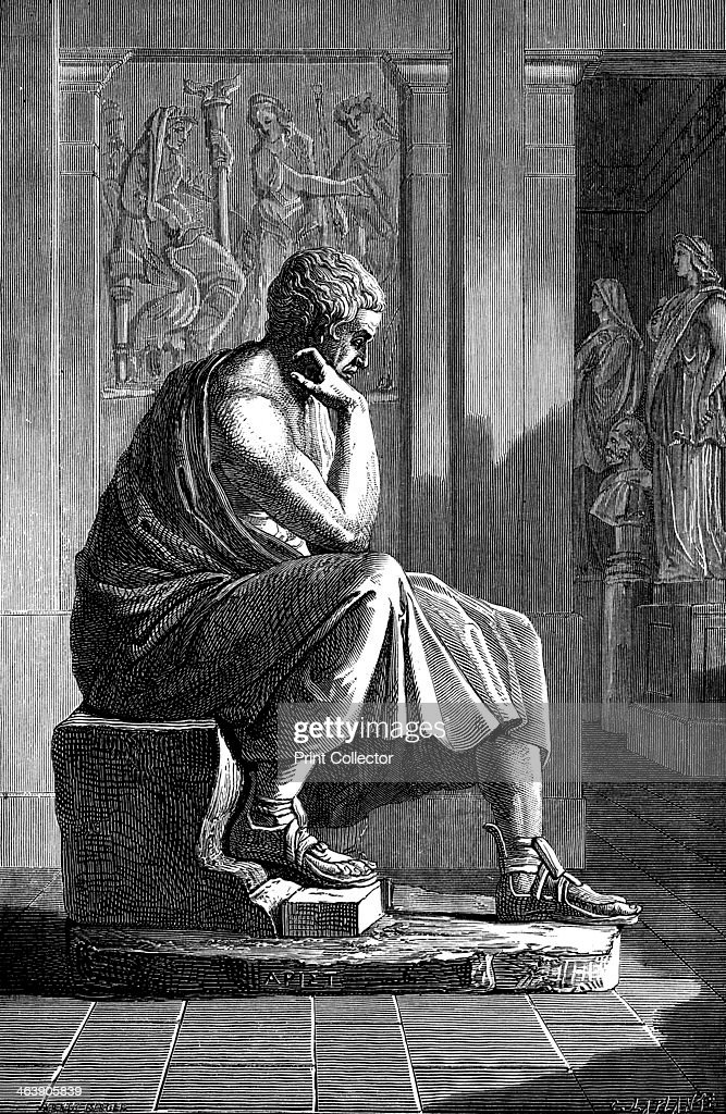Aristotle (384-322 BC), Ancient Greek philosopher and scientist. : News Photo