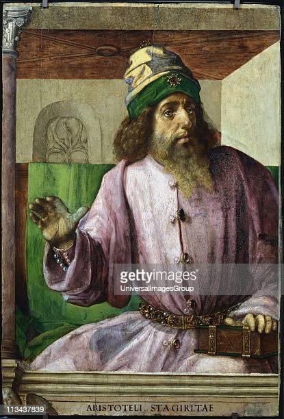 Aristotle Greek philospher and scientist Pedro Berruguete c14501503/4 and Justus de Gand Oil on wood