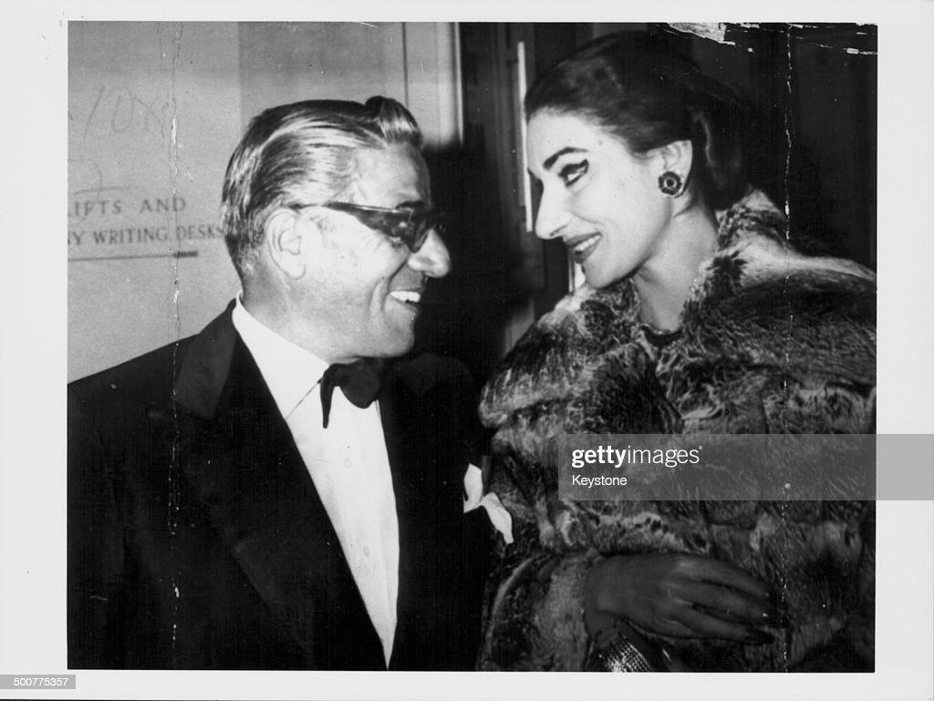 Aristotle Onassis And Maria Callas : News Photo