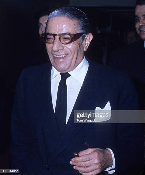 Aristotle Onassis during Aristotle Onassis at JFK Airport August 5 1972 at JFK Airport in New York United States