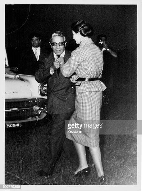 Aristotle Onassis kissing the hand of opera singer Maria Callas Milan Italy September 7th 1959