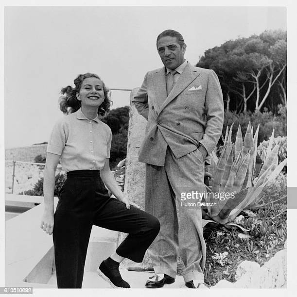Aristotle Onassis with his first wife Athina ca 1954 They were divorced in 1960