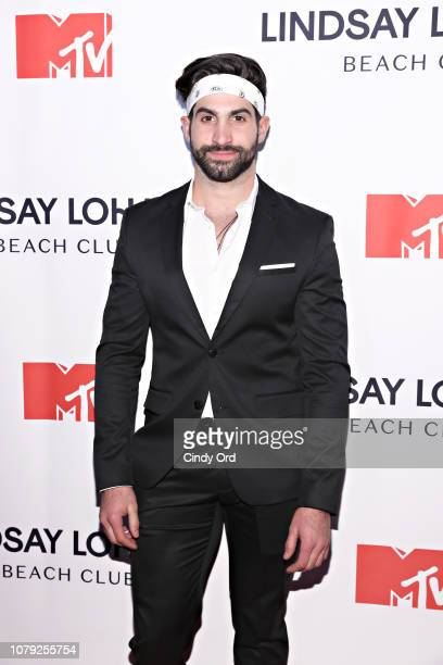 Aristotle Polites attends MTV's 'Lindsay Lohan's Beach Club' Premiere Party at Moxy Times Square on January 7 2019 in New York City