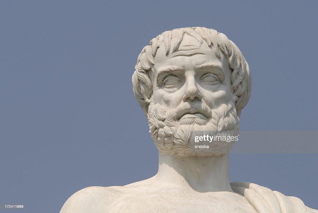Aristotle, portray,the philosopher : Stock Photo