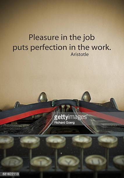 Aristotle quote concerning work