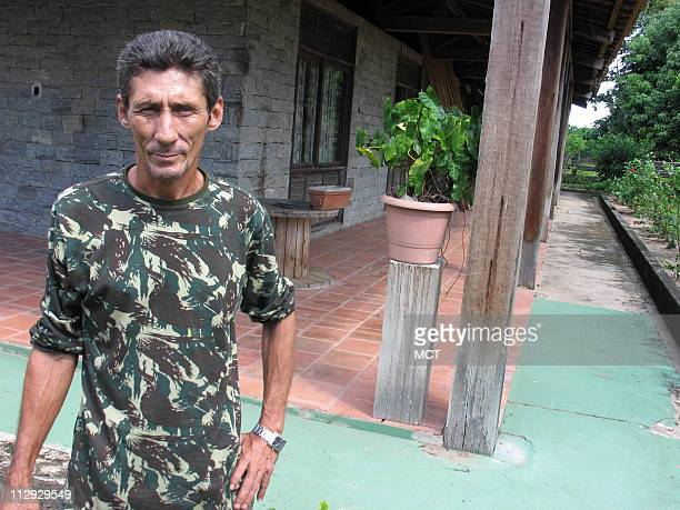 Arisvaldo Doria de Jesus shown June 21 has lived on this ranch in the Amazon rain forest near Tailandia Brazil for 26 years It was surrounded by rain...