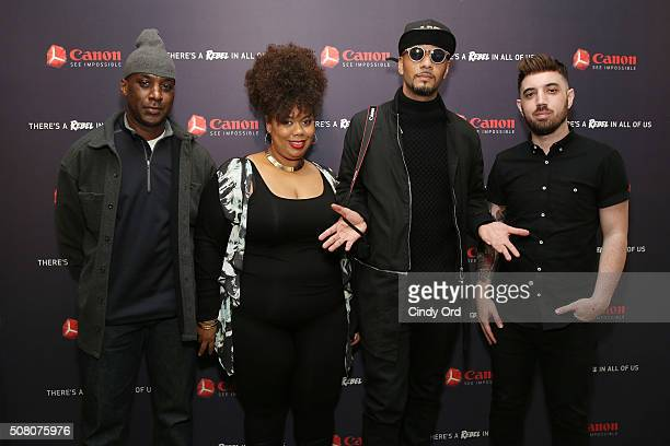 Aritsts Ron Haywood Jones Princess Smith Swizz Beatz and Jason Seife celebrate the 25th anniversary of the Canon EOS Rebel SLR Camera with Rebel With...