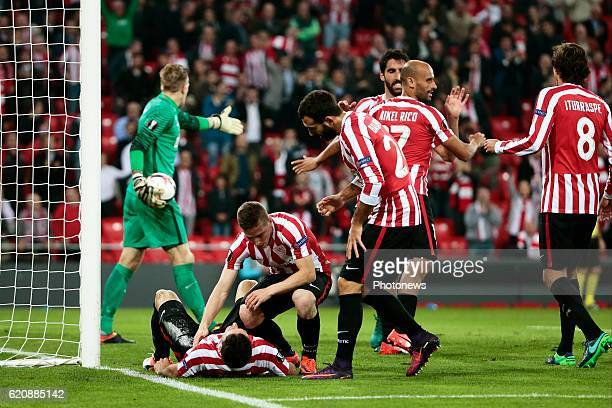Aritz Aduriz forward of Athletic Club Bilbao pictured during the UEFA Europa League group F stage match between Athletic Club de Bilbao and KRC Genk...