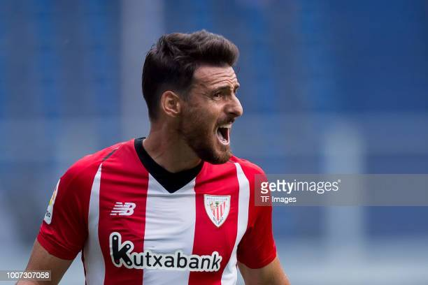Aritz Aduriz of Athletic Bilbao looks on during the Cup der Traditionen match between FC Fulham and Athletic Bilbao on July 28 2018 in Duisburg...