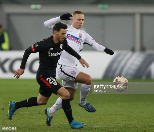 Aritz Aduriz of Athletic Bilbao UEFA Europa League Group J match between Zorya Luhansk and Athletic Bilbao at Arena Lviv in Lviv Ukraine December 07...
