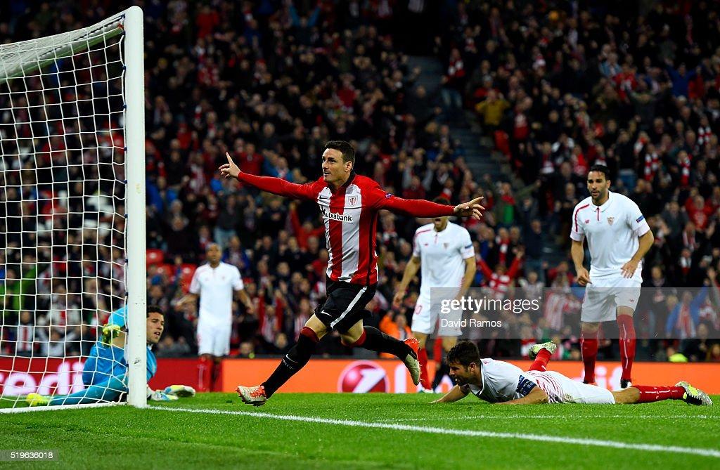 Athletic Bilbao v Sevilla - UEFA Europa League Quarter Final: First Leg : News Photo
