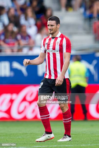 Aritz Aduriz of Athletic Club celebrates after scoring goal during the La Liga match between Eibar and Athletic Club at Estadio Municipal de Ipurua...